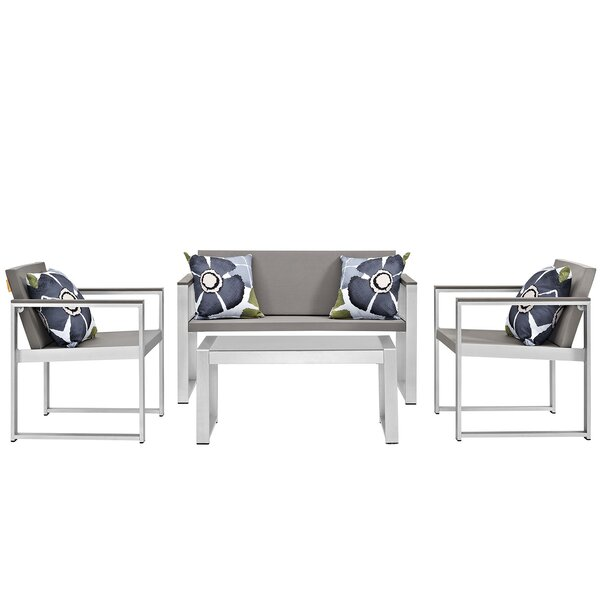Triumph 4 Piece Sofa Set with Cushions by Modway