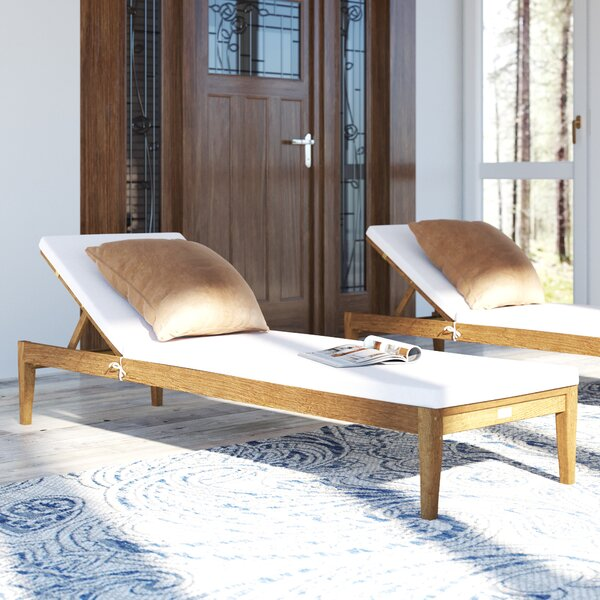 Zeman Reclining Chaise Lounge with Cushion by Birch Lane™ Heritage