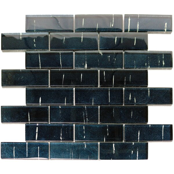 Folia 1.38 x 4 Glass Mosaic Tile in Statice Blue by Solistone
