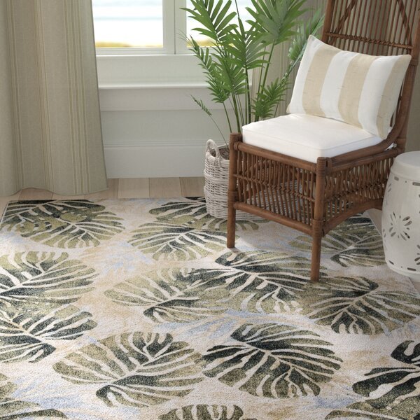 Skeen Tropical Ivory Area Rug by Bay Isle Home