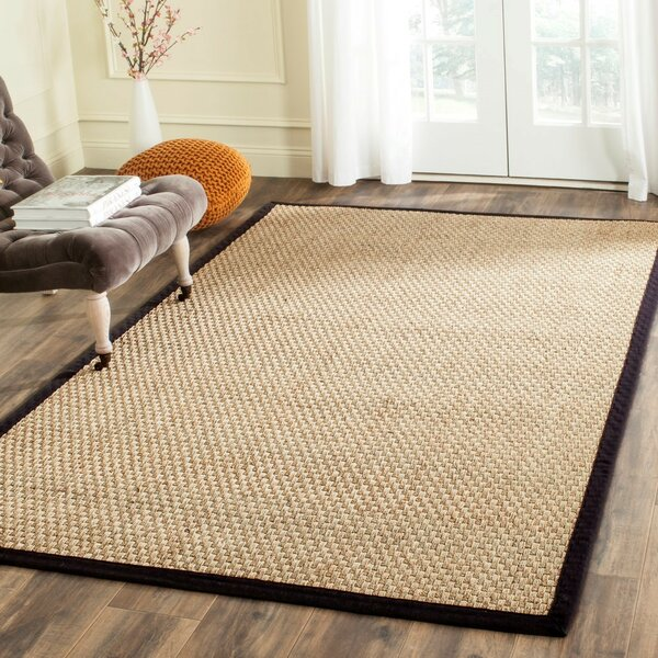 Richmond Natural / Black Area Rug by Beachcrest Home