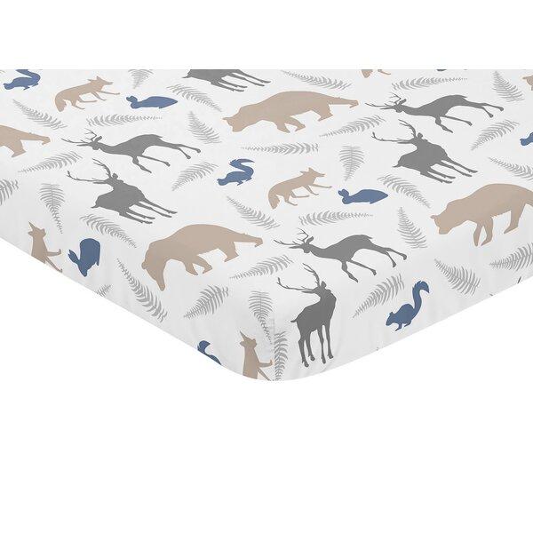 Woodland Animals Fitted Mini Crib Sheet by Sweet Jojo Designs