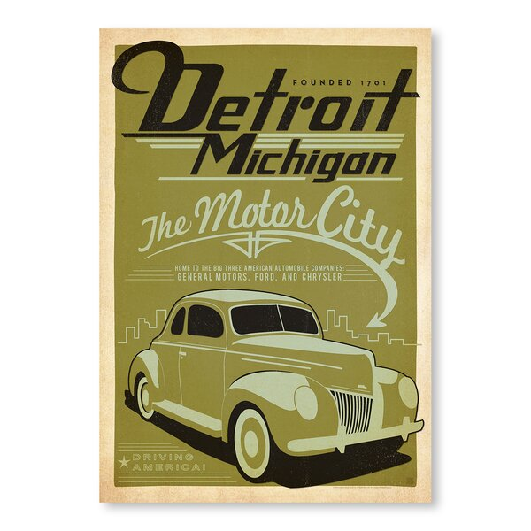 Detroit Vintage Advertisement by East Urban Home