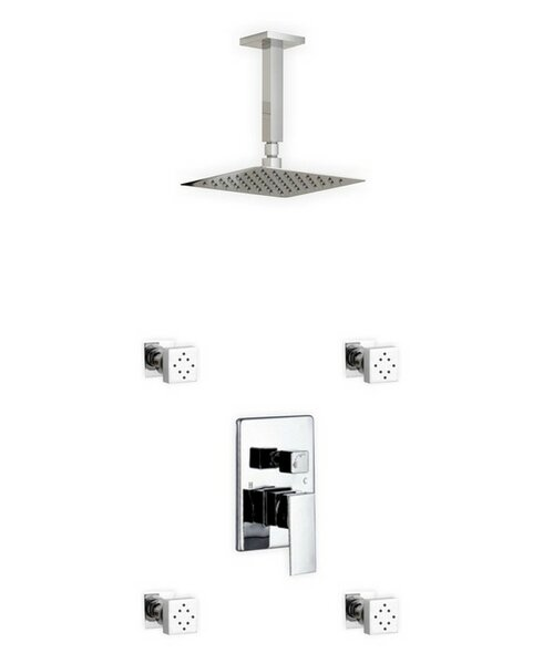 Cahoon Diverter Complete Shower System With Rough-in Valve By Rebrilliant