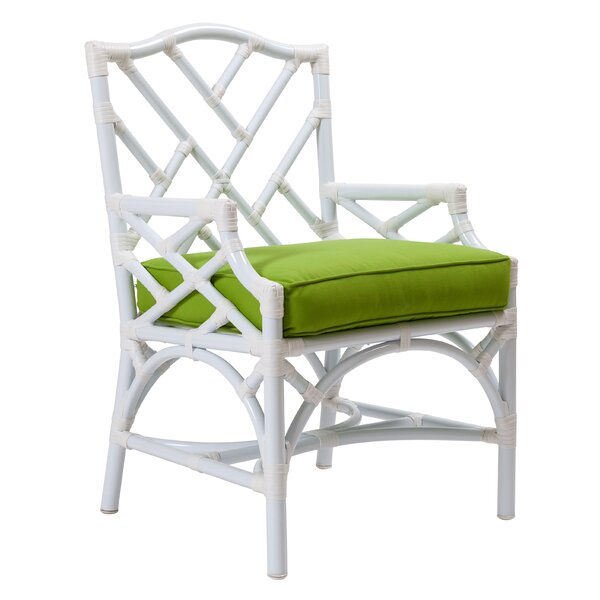 Chippendale Patio Dining Chair with Cushion by David Francis Furniture