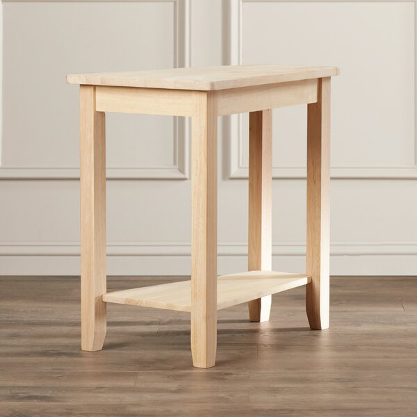 Attar Solid Wood 4 Legs End Table By Loon Peak