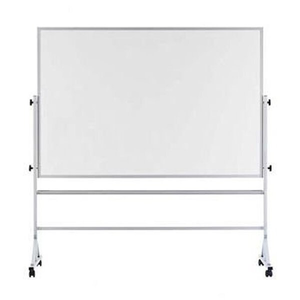 Porcelain Aluminum Trim Reversible Whiteboard, 48 x 72 by Offex
