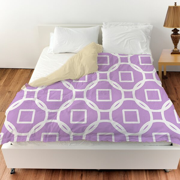 Modern Geometric Lavender Duvet Cover by Manual Woodworkers & Weavers