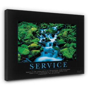 'Service Waterfall Motivational' Graphic Art by Andover Mills
