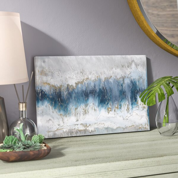 Moon Stone Painting Print On Canvas By Mistana.