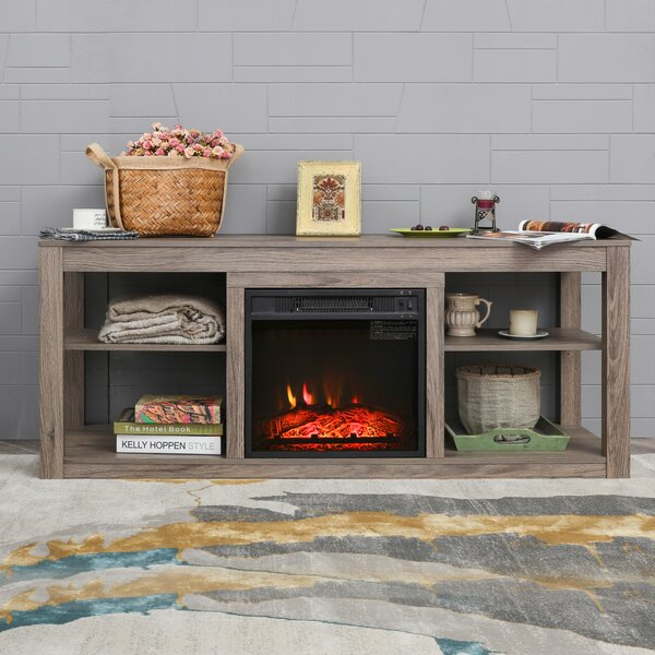 Furness TV Stand for TVs up to 65 inches with Electric Fireplace Included by Gracie Oaks Gracie Oaks