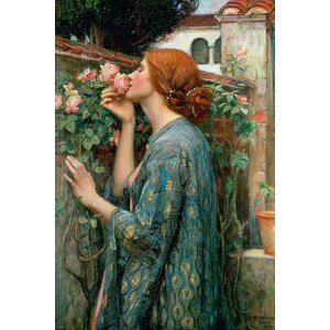 'The Soul of the Rose, 1908' by John William Waterhouse Painting Print on Wrapped Canvas by Astoria Grand