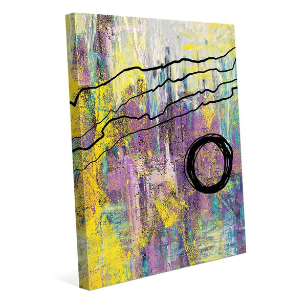 Harmonious Blackberry Crisis Painting Print on Wrapped Canvas by Click Wall Art