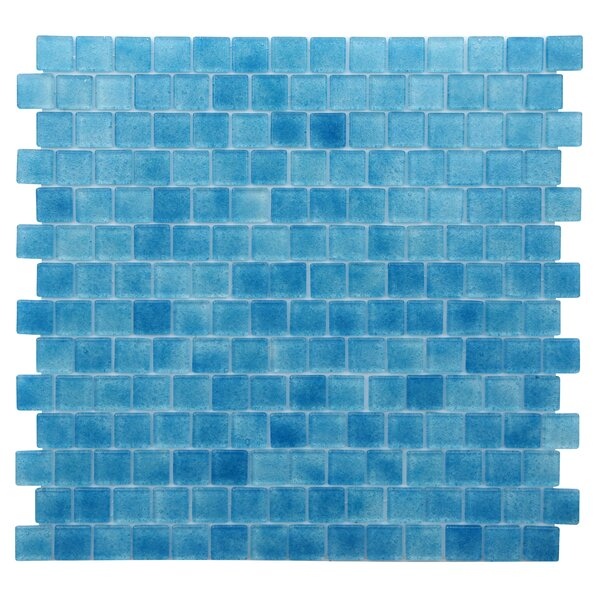 Quartz 0.75 x 0.75 Glass Mosaic Tile in Blue by Kellani
