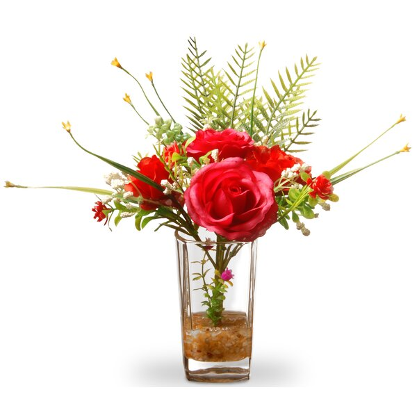 Red Roses in Glass Vase by Winston Porter