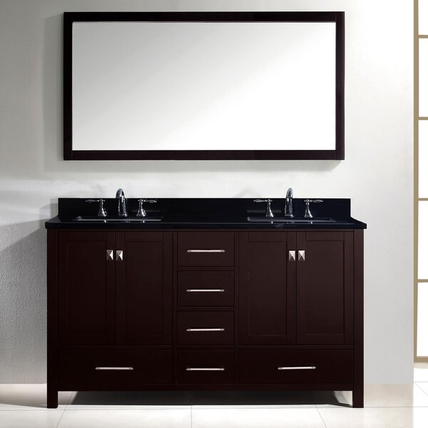 Raishon 61 Double Bathroom Vanity Set with Mirror by Willa Arlo Interiors