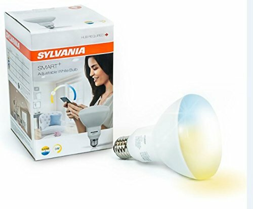 10 Watt (65 Watt Equivalent), BR30 LED Smart Light Bulb, Adjustable White, E26/Medium (Standard) Base by Sylvania SMART+