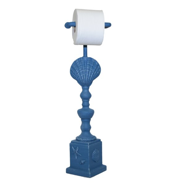 Clamshell Freestanding Toilet Paper Holder by Hickory Manor House