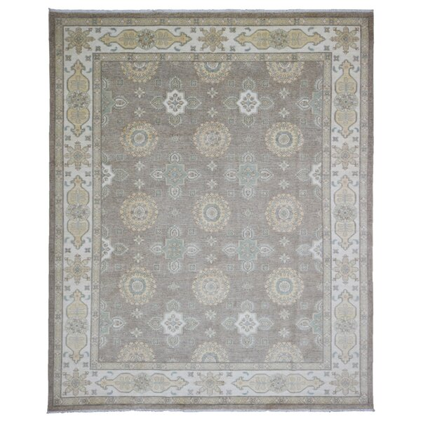 One-of-a-Kind Cravens Pakistan Peshawar Oriental Hand-Woven Wool Brown/Beige Area Rug by Isabelline