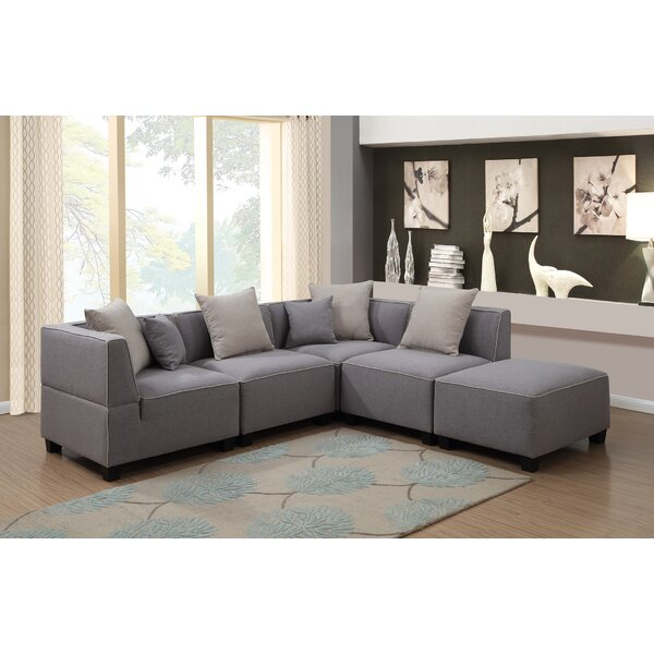 Holiday Buy Trini Reversible Modular Sectional by Ebern Designs by Ebern Designs