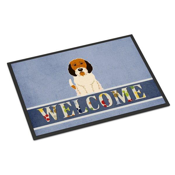 Petit Basset Griffon Veenden Welcome 27 in. x 18 in. Non-Slip Outdoor Door Mat