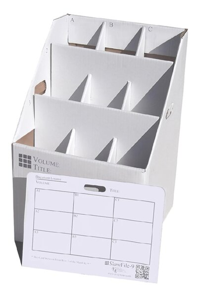 9 Slot Rolled Document Rolled Filing Box by Advanced Organizing Systems