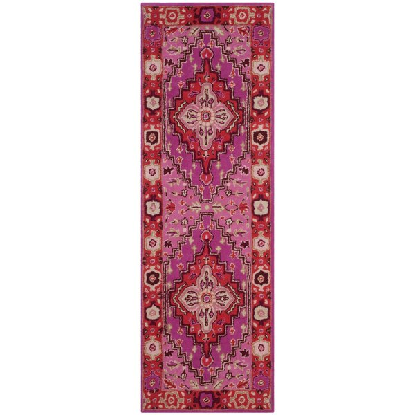 Blokzijl Hand-Tufted Wool Red Area Rug by Bungalow Rose