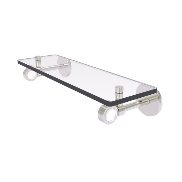 Gaskins Glass Floating Wall Shelf by Rebrilliant