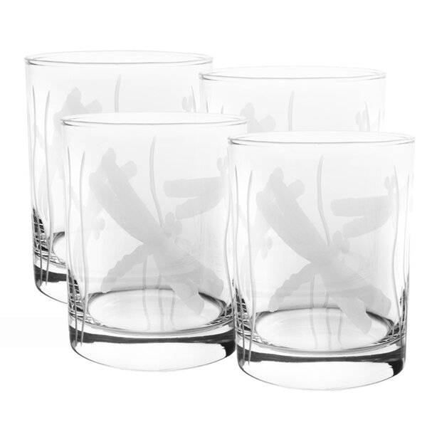 Dragonfly 14 oz. Double Old Fashioned (Set of 4) by Rolf Glass
