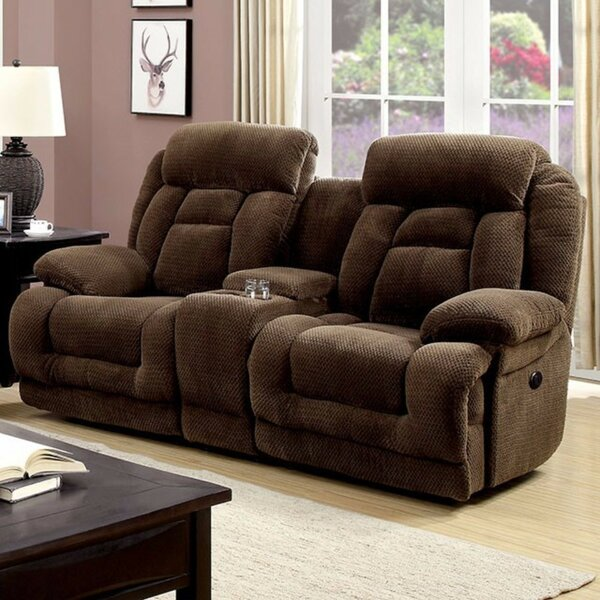 Stay On Trend This Prall Flannelette Motion Reclining Loveseat by Winston Porter by Winston Porter