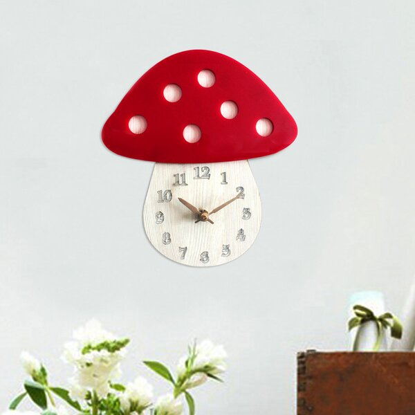 Acrylic Mushroom 8 Wall Clock by Pasargad