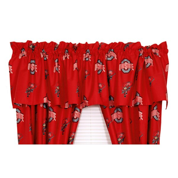 NCAA Ohio Printed Rod Pocket Curtain Valance by College Covers