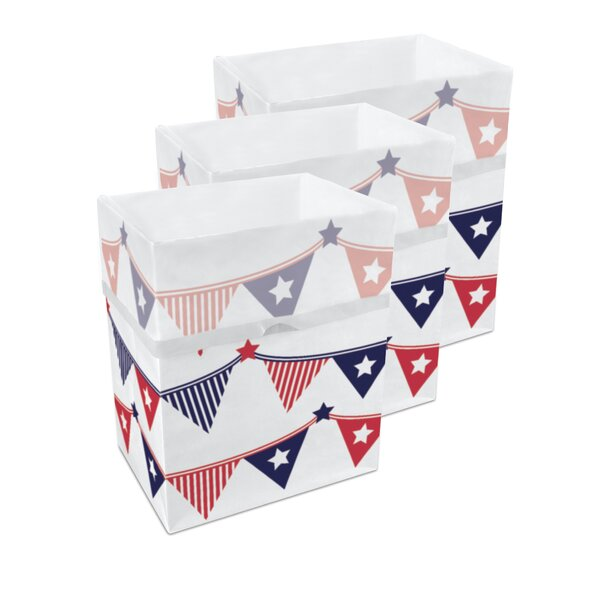 4th of July 10 Gallon Trash Can (Set of 3) by Clean Cubes LLC