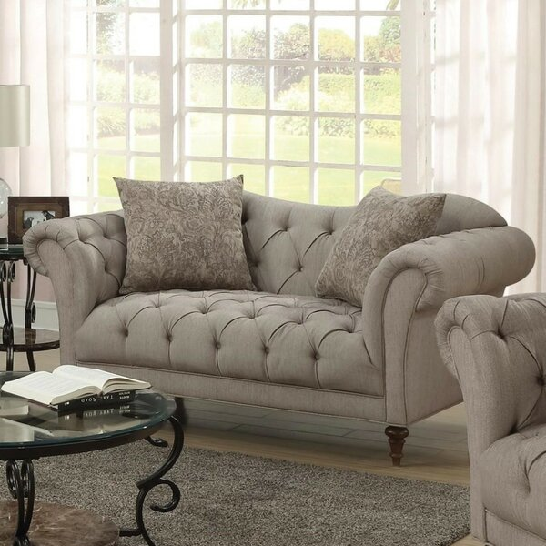 Web Order Abigayle Transitional Loveseat by Rosdorf Park by Rosdorf Park