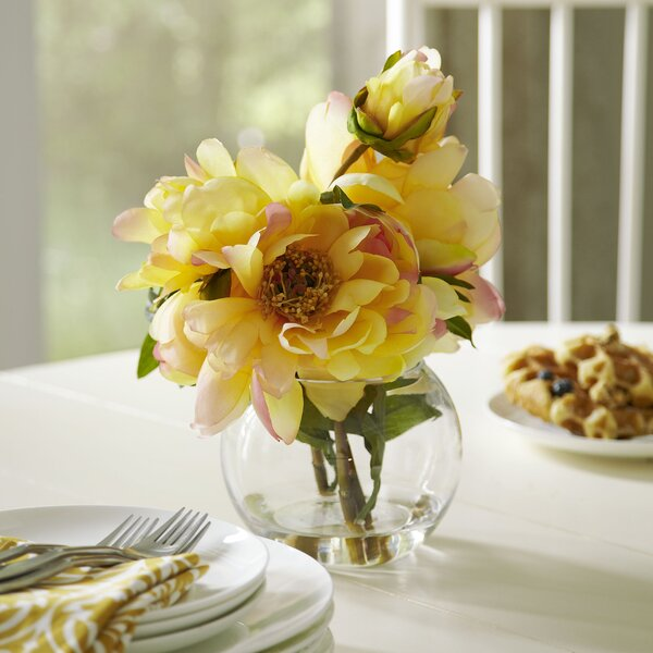 Faux Yellow Peony Bloom by Birch Lane™