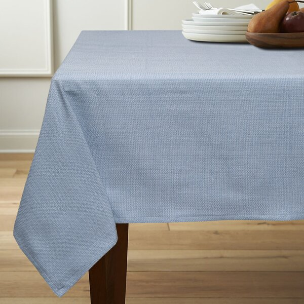 Rio Chambray Cotton Polyester Linen Tablecloth by Sweet Home Collection