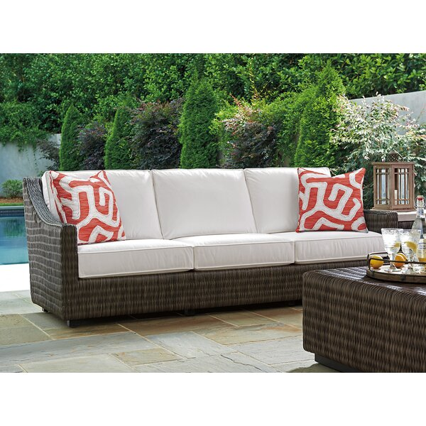 Cypress Point Ocean Terrace Patio Sofa with Cushions by Tommy Bahama Outdoor