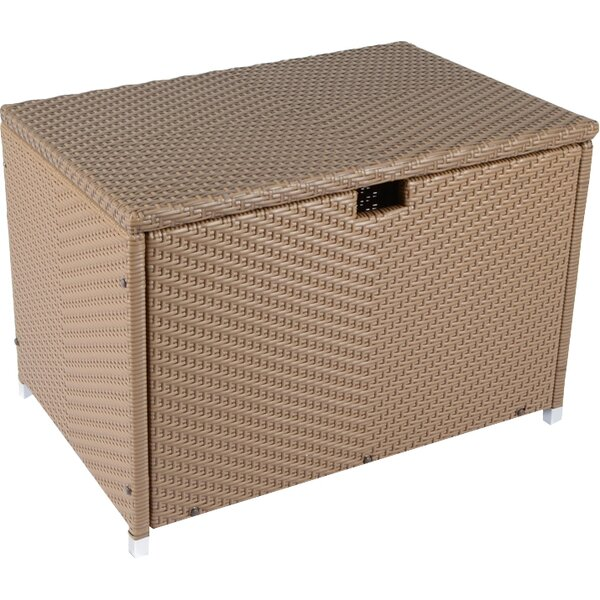 Stonewick Resin Deck Box by Tortuga Outdoor Tortuga Outdoor