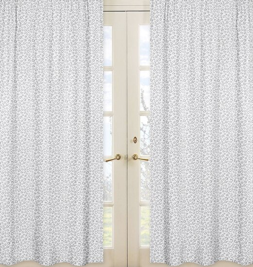 Kenya Animal Print Semi-Sheer Rod Pocket Curtain Panels (Set of 2) by Sweet Jojo Designs