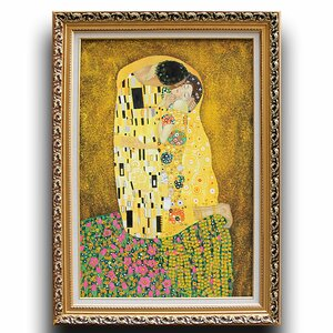 The Kiss' by Gustav Klimt Framed Painting by Greenville Signature
