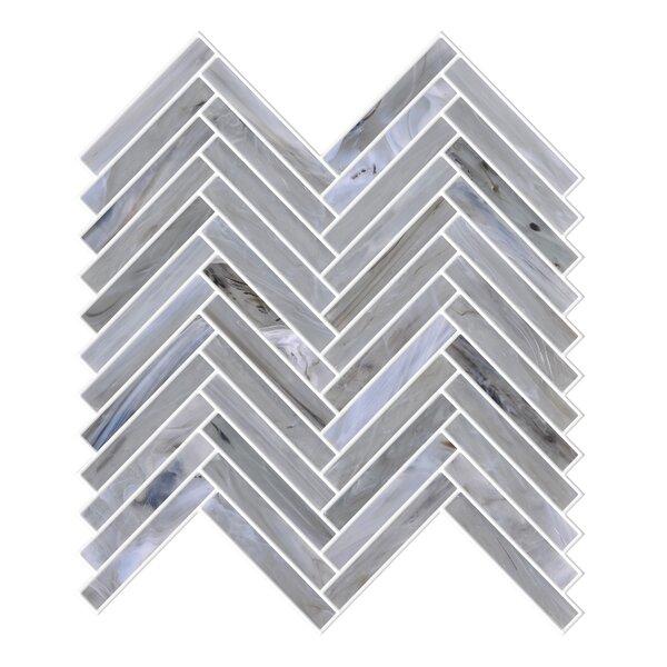 Acuto Mix 11.1 x 11.3 Glass Mosaic Tile in Gray by Byzantin Mosaic