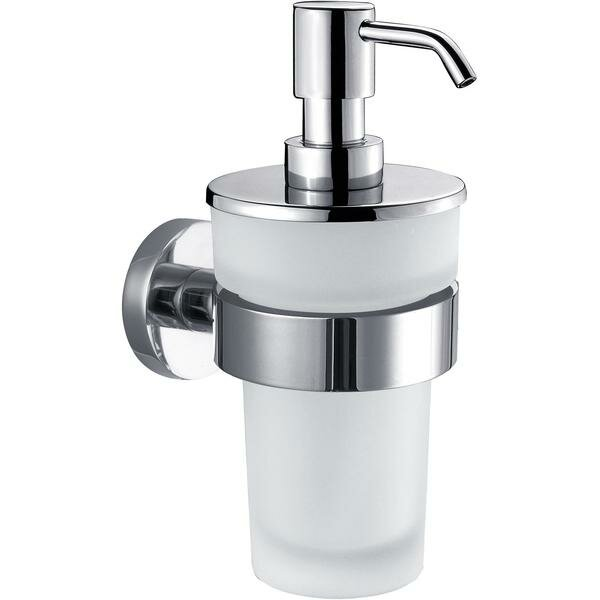 Mahar Wall Glass Pump Soap and Lotion Dispenser by Latitude Run