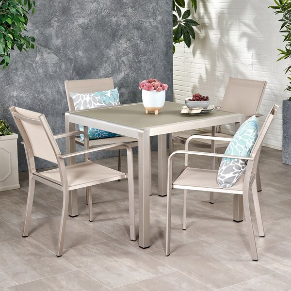 Simone 5 Piece Dining Set by Ebern Designs