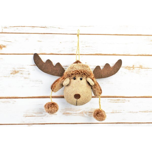 Hanging Deer Head by The Holiday Aisle