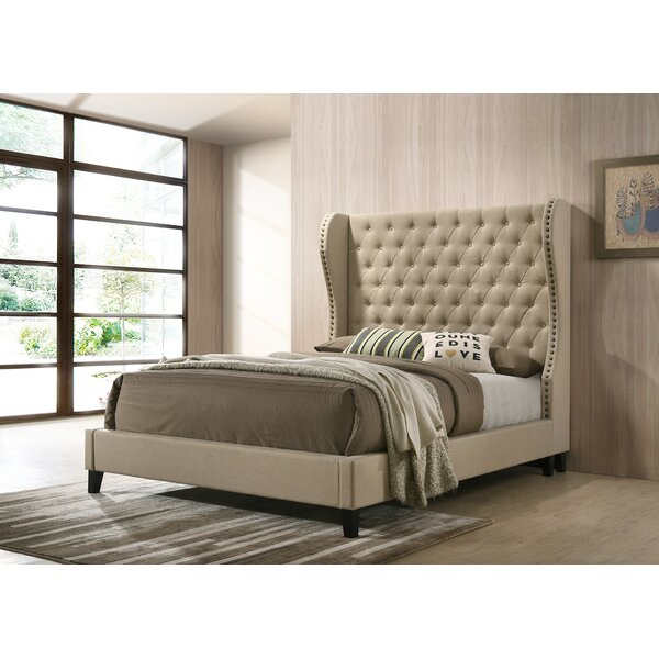 Landes Upholstered Standard Bed by House of Hampton