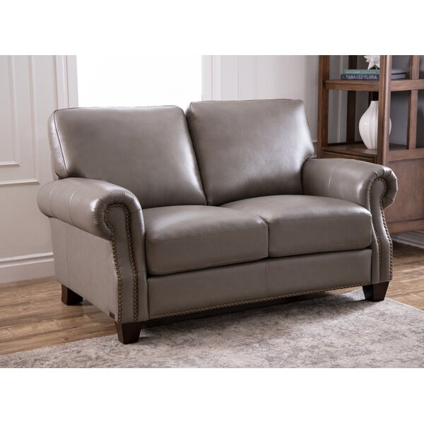 Carthage Leather Loveseat by Darby Home Co