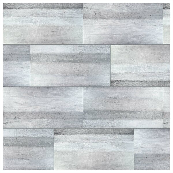 Aetolia Grand 17.63 x 35.38 Porcelain Field Tile in Gray by EliteTile