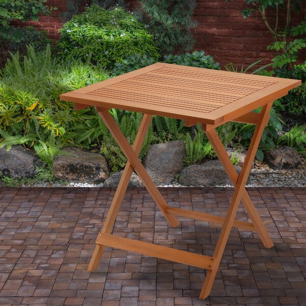 Davian Folding Wooden Bistro Table by Union Rustic