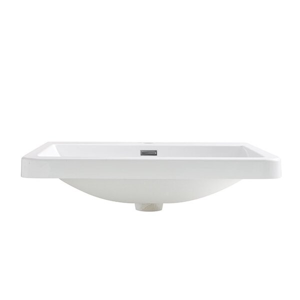 Milano Rectangular Drop-In Bathroom Sink with Over