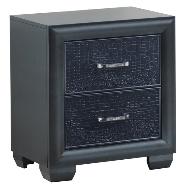 Aguilera 2 Drawer Nightstand by Everly Quinn